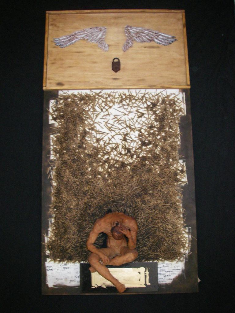 10,000 Cuts/49x25/Clay, Wood & Stone/$5000
