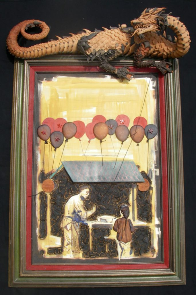 """Aspire to Inspire/OIl & Clay on Wood/42""""x33""""/$4200"""